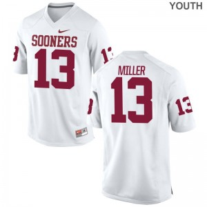 Limited A.D. Miller Jerseys X Large Youth(Kids) Sooners - White