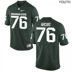 AJ Arcuri MSU Jerseys Youth(Kids) Limited Green