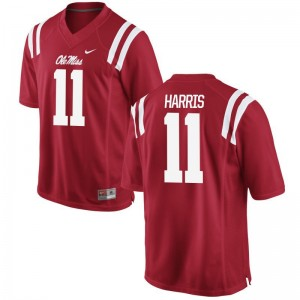For Men Limited Ole Miss Rebels Jerseys S-3XL of A.J. Harris - Red