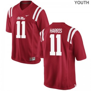 A.J. Harris Ole Miss Rebels Jerseys Youth Large Limited Youth - Red