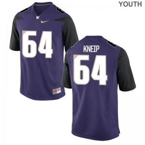 Youth(Kids) A.J. Kneip Jerseys Purple Limited UW Jerseys