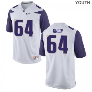 A.J. Kneip Jerseys Large Youth Washington Huskies White Limited