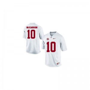 Alabama Crimson Tide AJ McCarron Limited Mens Jerseys - White
