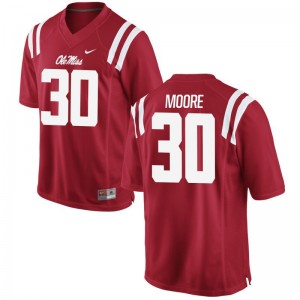 Ole Miss A.J. Moore Jerseys Men XXL Limited For Men Jerseys Men XXL - Red