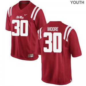 Medium Ole Miss A.J. Moore Jersey Youth(Kids) Limited Red Jersey