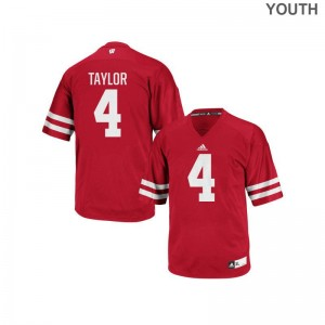 Youth(Kids) A.J. Taylor Jersey Large University of Wisconsin Authentic - Red