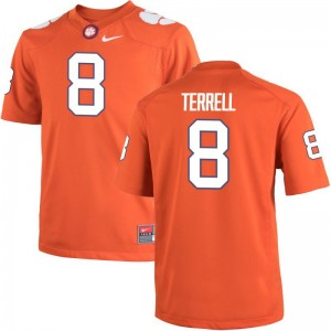 A.J. Terrell Clemson University Jersey XL Men Orange Limited