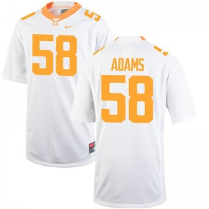 Aaron Adams Tennessee Jersey Large Youth Limited - White