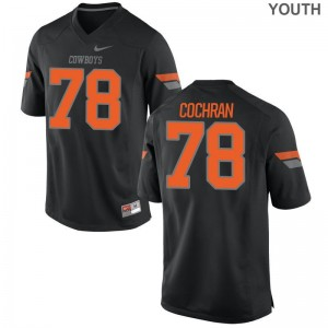 OK State Black Limited Youth Aaron Cochran Jerseys Large
