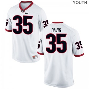 Limited White Aaron Davis Jerseys S-XL Youth Georgia Bulldogs
