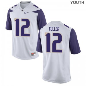 University of Washington Aaron Fuller Jersey XL Limited Kids - White