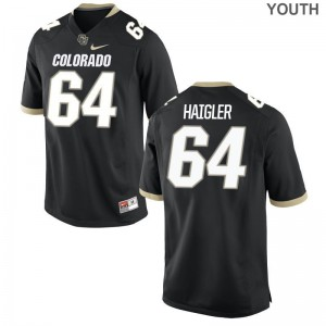 Colorado Aaron Haigler Jerseys X Large For Kids Limited Black