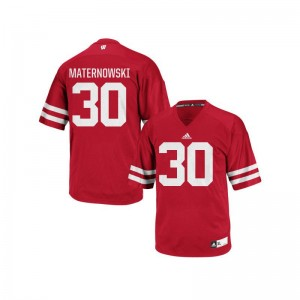 UW Aaron Maternowski For Men Authentic Jerseys Men Small - Red