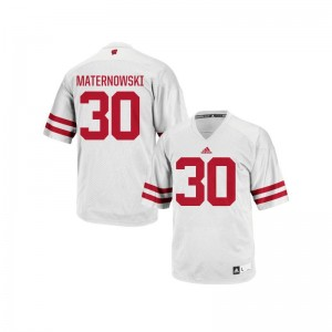 Authentic Wisconsin Badgers Aaron Maternowski Mens Jerseys Men Large - White
