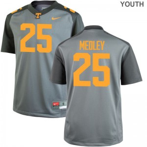Aaron Medley Kids Jersey Youth XL Limited Tennessee Volunteers - Gray