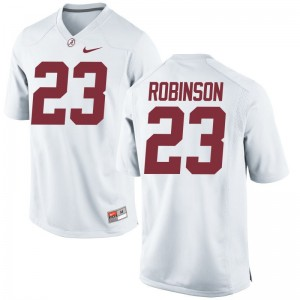 Alabama Crimson Tide Youth Limited White Aaron Robinson Jerseys Large