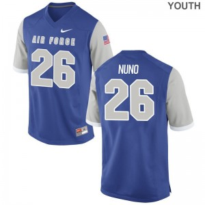 Limited Abraham Nuno Jerseys Youth XL USAFA Royal Kids