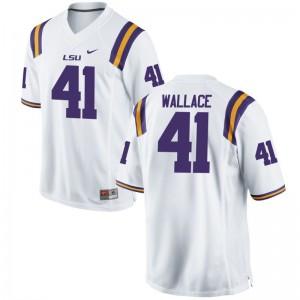 LSU Tigers Abraham Wallace Jersey Stitch For Men Limited White Jersey