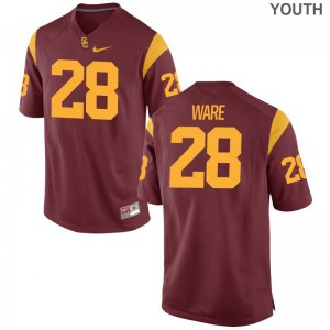 Youth Limited Trojans Jersey Aca'Cedric Ware White Jersey