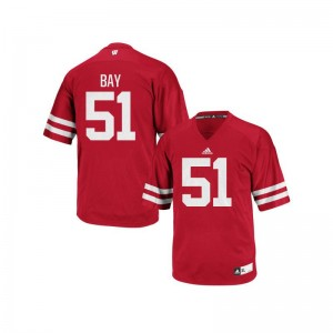 University of Wisconsin Adam Bay Jerseys Men XL Men Authentic Jerseys Men XL - Red