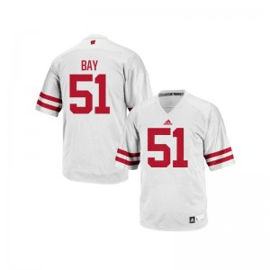 Adam Bay Jerseys Mens Medium Wisconsin Badgers Authentic Mens - White