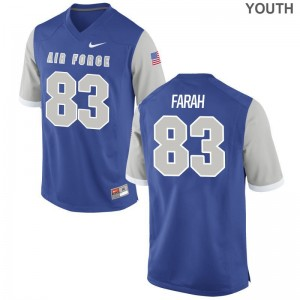 Adam Farah Youth(Kids) Jerseys Youth XL Air Force Falcons Limited Royal