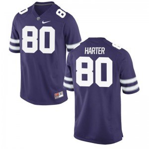 Limited Adam Harter Jersey Mens XXL For Men K-State - Purple
