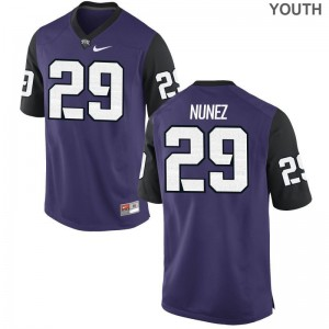 Adam Nunez TCU Jersey Youth Medium Limited For Kids Purple Black
