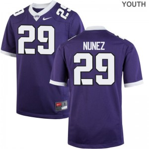 Youth(Kids) Adam Nunez Jersey Embroidery Purple Limited Texas Christian Jersey