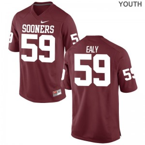 Adrian Ealy Youth(Kids) Jersey Small Limited Crimson OU