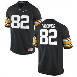 Adrian Falconer Men Iowa Hawkeyes Jerseys Black Limited Jerseys