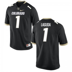 Black Afolabi Laguda Jerseys XL University of Colorado For Men Limited