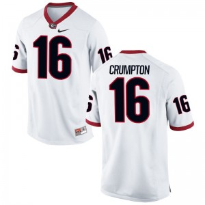 Ahkil Crumpton Jersey S-3XL Mens Georgia Limited White