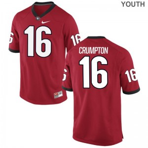 Ahkil Crumpton Jerseys S-XL Georgia Kids Limited - Red