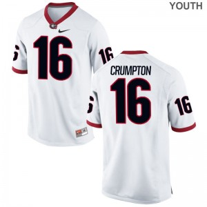 Limited University of Georgia Ahkil Crumpton Youth(Kids) Jerseys X Large - White