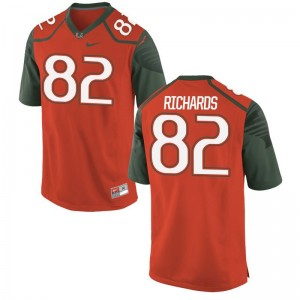 Ahmmon Richards Limited Jerseys For Men High School Miami Hurricanes Orange Jerseys