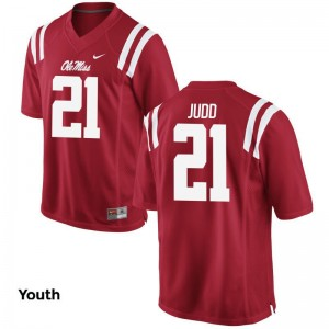 Akeem Judd Youth Jersey Medium Limited Ole Miss - Red