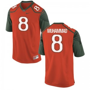 Al-Quadin Muhammad Youth Jersey Large University of Miami Orange Limited