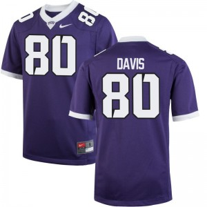 TCU Horned Frogs Al'Dontre Davis Jersey Mens Medium For Men Purple Limited