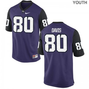 TCU For Kids Purple Black Limited Al'Dontre Davis Jersey Youth XL