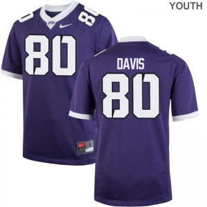 Al'Dontre Davis Texas Christian University Jerseys S-XL Limited Purple Youth