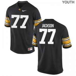 Youth Limited Player Hawkeyes Jerseys Alaric Jackson Black Jerseys