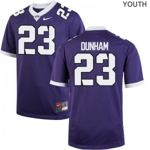 Youth Medium Texas Christian Alec Dunham Jersey Youth Limited Purple Jersey
