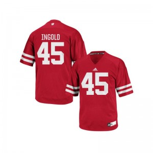 Mens Authentic Wisconsin Jersey Men XXL of Alec Ingold - Red