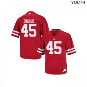 Alec Ingold Wisconsin Jersey Youth Small For Kids Authentic Jersey Youth Small - Red