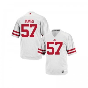 Mens Authentic Wisconsin Badgers Jersey XXL Alec James - White