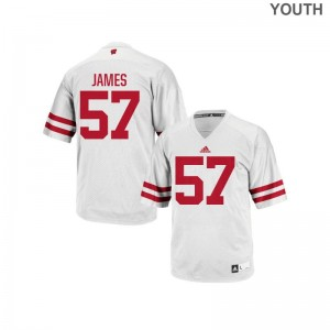Alec James Wisconsin Badgers Jersey Youth X Large Authentic White For Kids