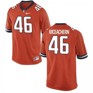 Alec McEachern Fighting Illini Mens Jerseys Orange Limited Jerseys