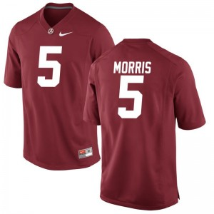 Alabama Jerseys Large Alec Morris Limited Youth(Kids) - Red