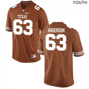Alex Anderson For Kids Jersey Youth Medium Orange Limited Texas Longhorns